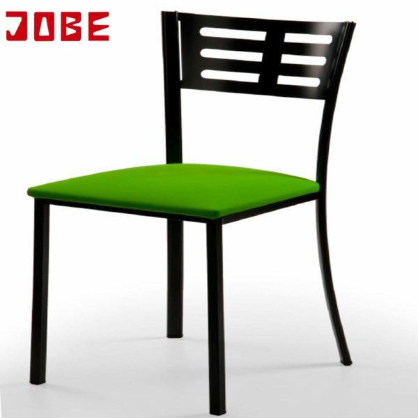 Sillas negras tapizadas muebles jobe - Sillas negras ...
