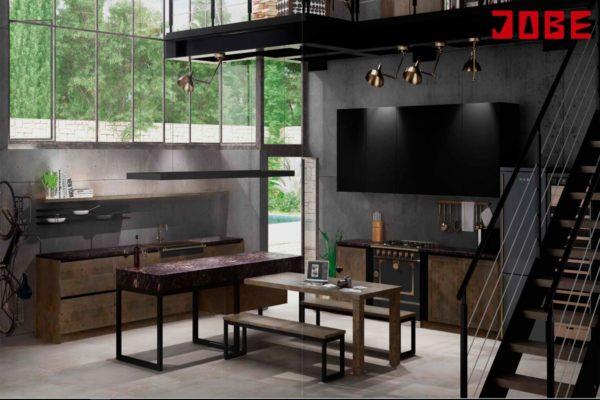 Cocina estilo industrial muebles jobe for Muebles de cocina estilo industrial