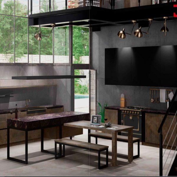 Cocina estilo industrial muebles jobe for Muebles jobe