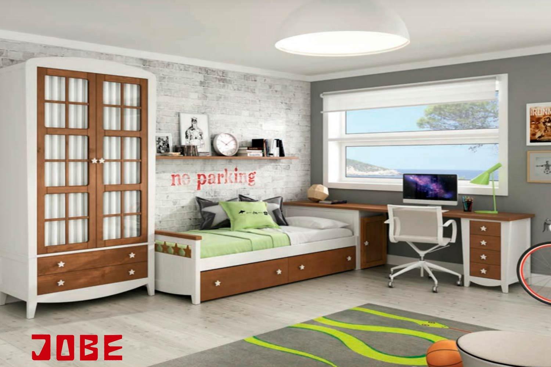 armario cerezo y blanco muebles jobe