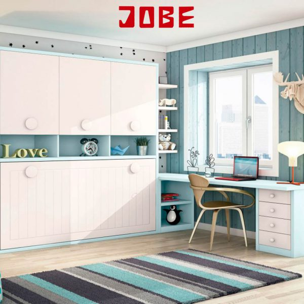 Cama abatible horizontal lacada muebles jobe for Muebles jobe