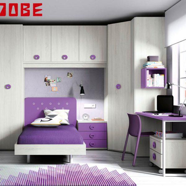 Dormitorio puente con cama individual muebles jobe for Muebles jobe