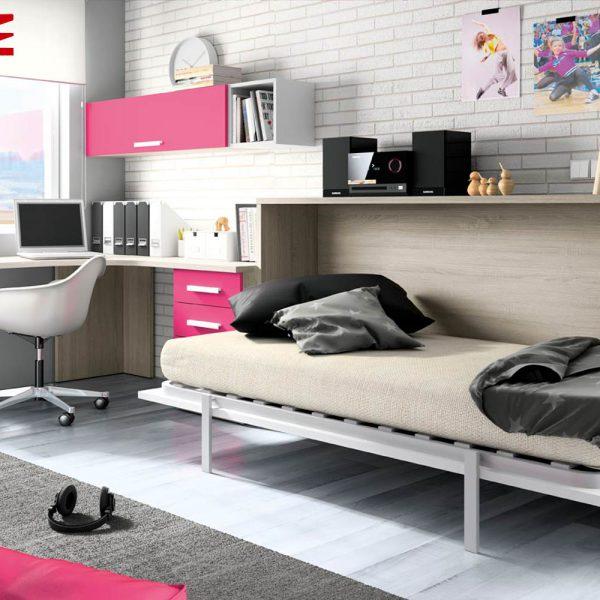 Cama abatible horizontal muebles jobe for Muebles jobe