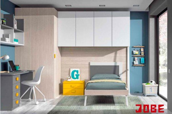 Dormitorio completo con cama independiente muebles jobe for Muebles jobe