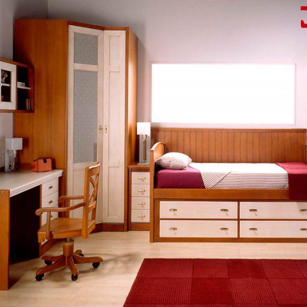 Compacta con cajones en madera muebles jobe - Cama compacta con cajones ...