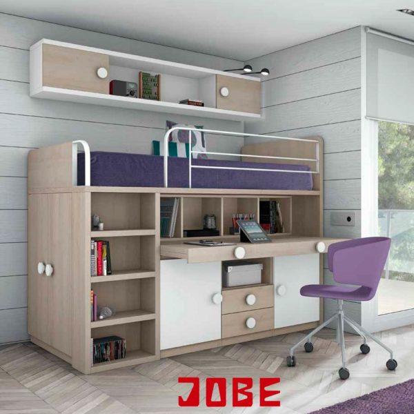 Cama Litera 3 En 1 Muebles Jobe