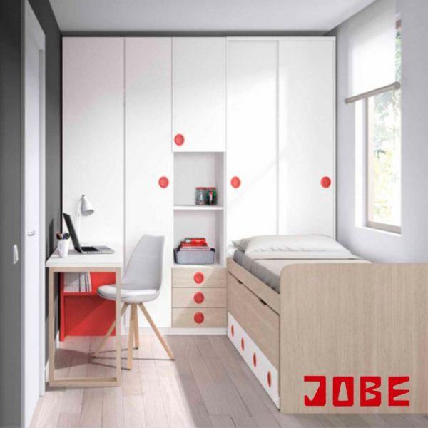 Compacta con armario cabecero muebles jobe for Muebles escribano calatayud