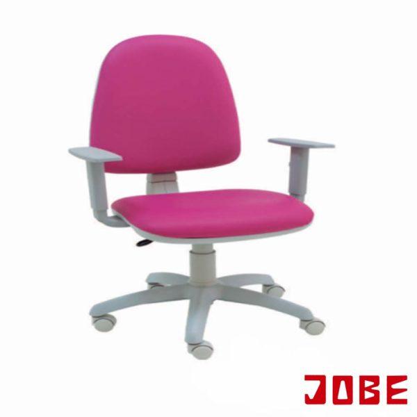 silla fucsia con ruedas y brazos grises muebles jobe calatayud brea de aragón