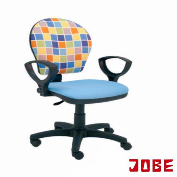 silla juvenil azul celeste y respaldo estampado cuadros colores muebles jobe calatayud brea de aragón