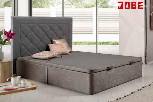 canapé abatible tapizado en polipiel o tela a elegir con tapa 3D muebles jobe calatayud brea de aragón